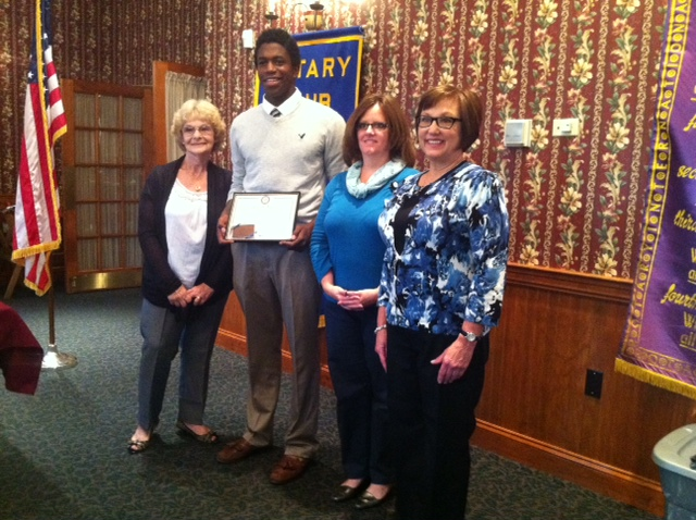 Tyriq Dorman Receives his Student of the Month Award