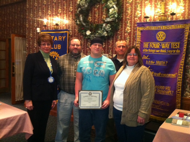 Jonathan Fetterolf Nominated November 2012 Student of the Month
