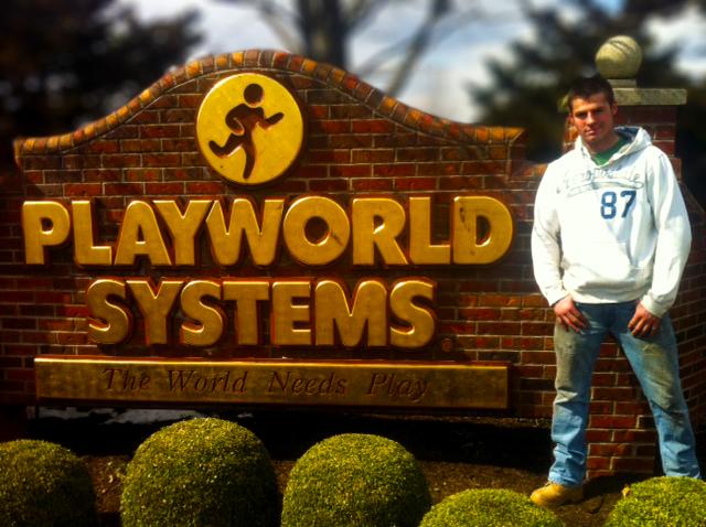 Nate Baker at Playworld Systems