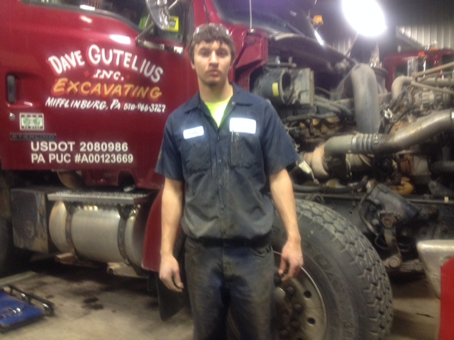 Cody Stahl at Gutelius Excavating