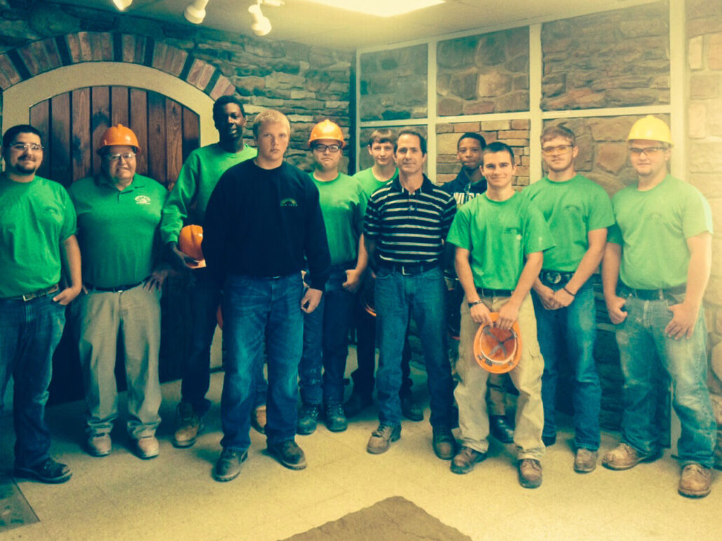 2014 Masonry students with Ply Gem employee Duane Inch
